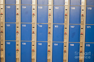 Lockers Art Print by Boris Suntsov