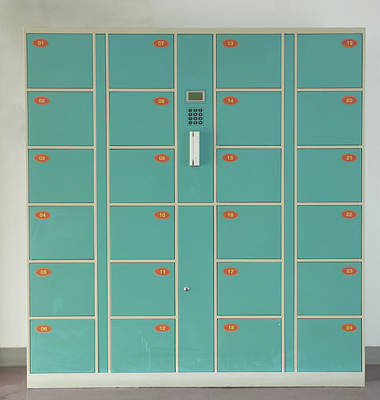 Lockers In A Changing Room Print by Guang Ho Zhu