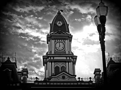 Photograph - Lockhart Courthouse Clock Tower by James Granberry