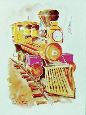 Locomotive Art Print by Frank Hunter