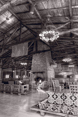 Lodge Starved Rock State Park Illinois Bw Original by Steve Gadomski
