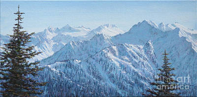 Painting - Lodge View From Hurricane Ridge by LeRoy Jesfield