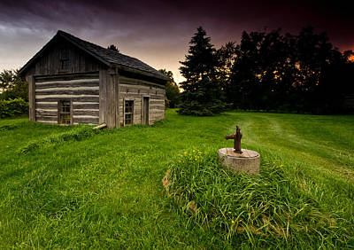 Log Cabins Photograph - Log Cabin by Cale Best