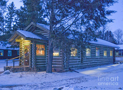 Log Cabin Library 1 Art Print by Jim Wright