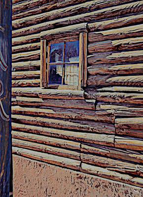 Photograph - Log Cabin View by Diane montana Jansson