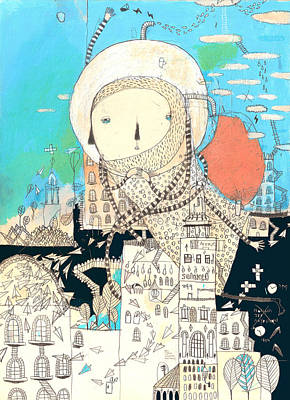 Logic Will Get You From A To B. Imagination Will Take You Everywhere Art Print by Nayoun Kim