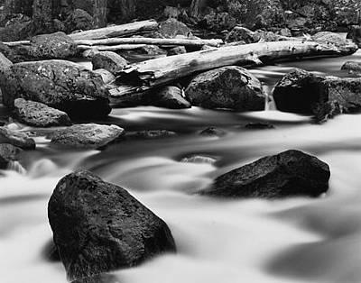 Logs Across River Original by Scott Shaver
