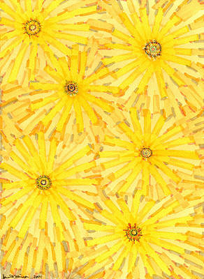 Drawing - Loire Sunflowers One by Jason Messinger