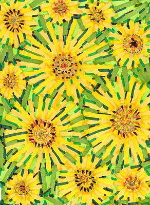 Drawing - Loire Sunflowers Two by Jason Messinger