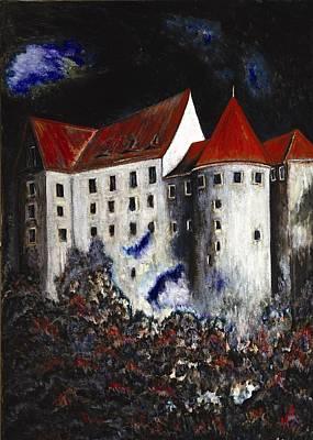 Loket Painting - Loket  Castle by Erika Morrison