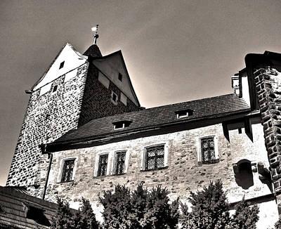 Loket Castle Tower - Czech Republic Art Print by Juergen Weiss