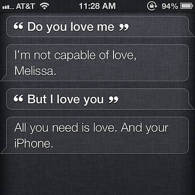 Iphone 4s Photograph - #lol #siri #iphone #love #crazy by Melissa Napolitano