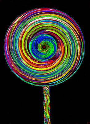 Candy Digital Art - Lollipop by David Lee Thompson