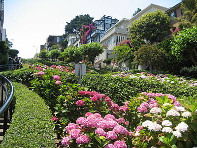 Art Print featuring the photograph Lombard Street by Dany Lison