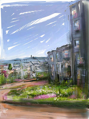Mixed Media - Lombard Street by Russell Pierce