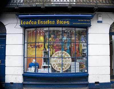 Photograph - London Beatles Store by Mickey Clausen
