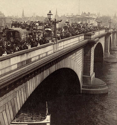 London Bridge - England - C 1896 Art Print by International  Images