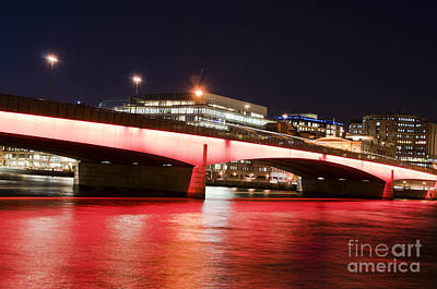 Scenic Photograph - London Bridge After Dark by Andrew  Michael
