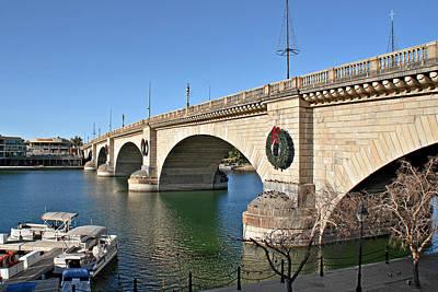 Channel Photograph - London Bridge Lake Havasu City - The World's Largest Antique by Christine Till