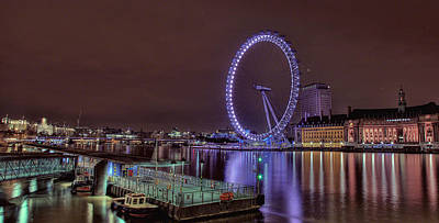 Photograph - London By Night by Lee-Anne Rafferty-Evans