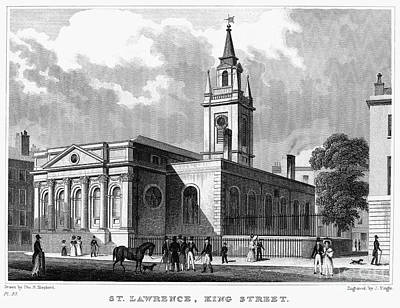 Saint Christopher Photograph - London: Church, C1830 by Granger