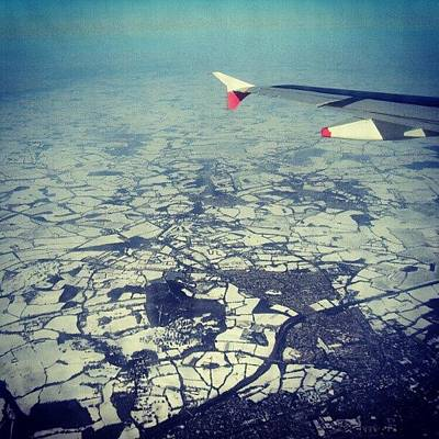 Airplane Photograph - #london Covered With #snow Photo From by Abdelrahman Alawwad