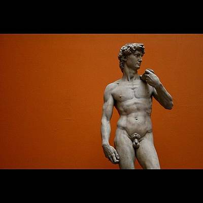 #london #david #michelangelo #sculpture Art Print
