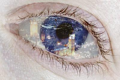 Creative Manipulation Photograph - London Eye by Alice Gosling