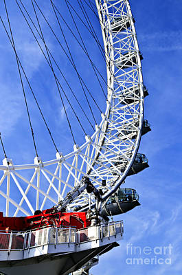 London Eye Photograph - London Eye by Elena Elisseeva