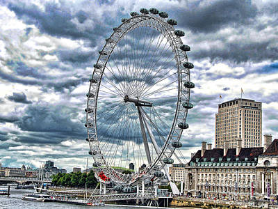 London Eye Art Print by Graham Taylor