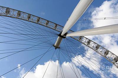 Photograph - London Eye On Bright Blue Sky by Heidi Hermes