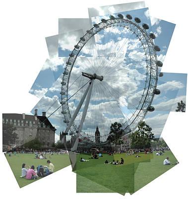 London Eye Panograph Art Print by George Crawford