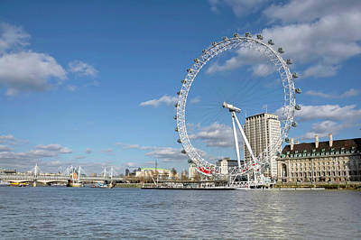 London Eye Art Print by Paul Biris