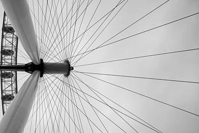 London Eye Strings  Art Print by Dimitar K Atanassov
