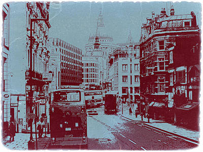 European City Photograph - London Fleet Street by Naxart Studio