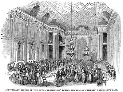 London: Freemasons Hall Art Print by Granger