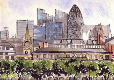 Mixed Media - London  by Dianne Green