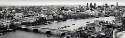 Arial Photograph - London In A Click by Sharon Lisa Clarke