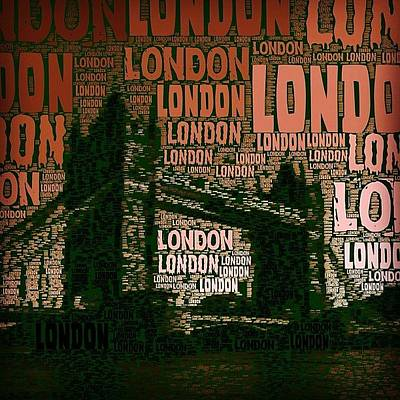 #london Just London Art Print