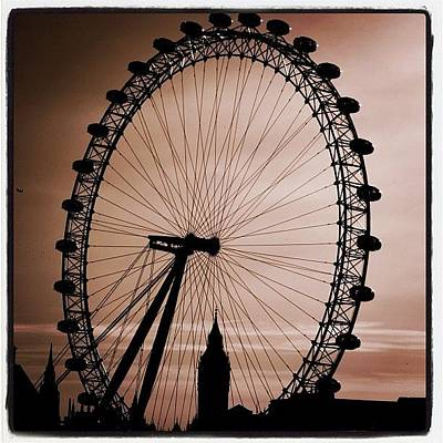 London Wall Art - Photograph - #london #londoneye #bigben by Ozan Goren