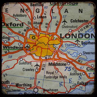 Novel Photograph - London Map by Georgia Fowler