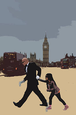 Bus Photograph - London Matrix Baddie Agent Smith by Jasna Buncic