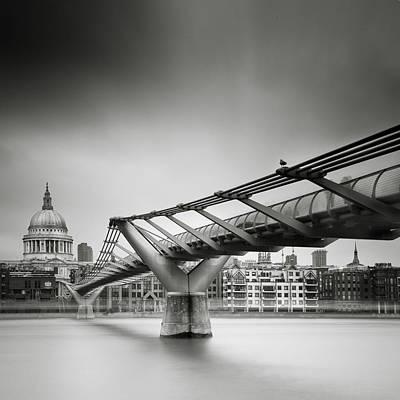 Gb Photograph - London Millenium Bridge by Nina Papiorek