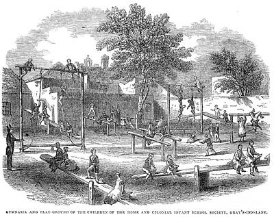 London Playground, 1843 Art Print by Granger