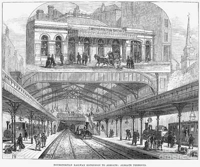 London: Railway, 1876 Art Print