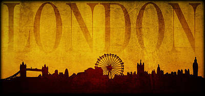 Digital Art - London by Ricky Barnard