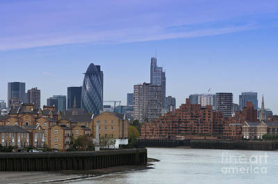 London Photograph - London River Thames by Andrew  Michael