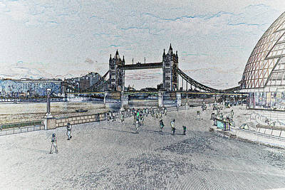 London Southbank Art Art Print