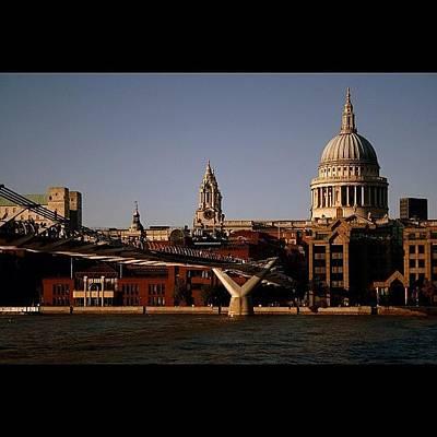 River Wall Art - Photograph - #london #stpaul #thames #river by Ozan Goren