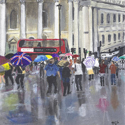 Painting - London - Summer 2012-1 by Peter Edward Green